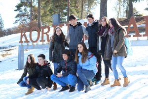 Some of the basque students visited Korkeasaari zoo, some went to skate or ski.